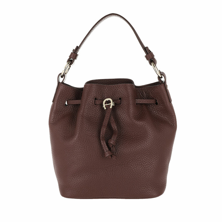 Handtasche, AIGNER, Tara Handle Bag Bitter Chocolate Brown