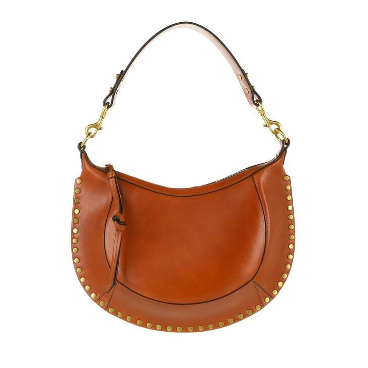 Handtasche, Isabel Marant, Naoko Hobo Bag Leather Cognac