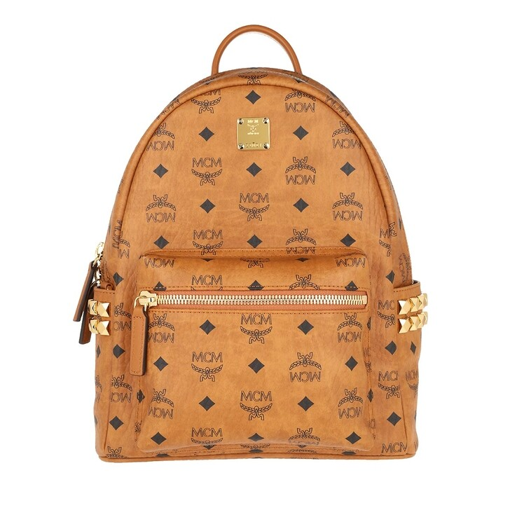 Reisetasche, MCM, Stark Backpack Small   Cognac