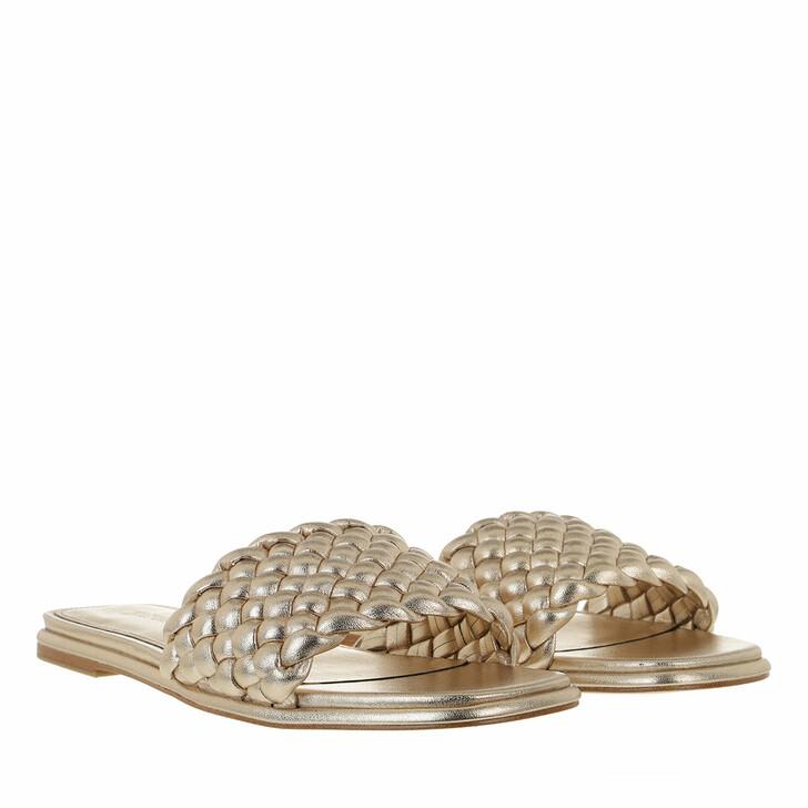 shoes, MICHAEL Michael Kors, Amelia Flat  Antique Gold