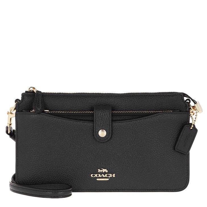 Handtasche, Coach, Polished Pebble Leather Noa Li/Black
