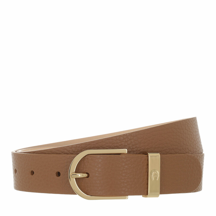 belts, AIGNER, Casual Belt 3 cm Dark Toffee Brown