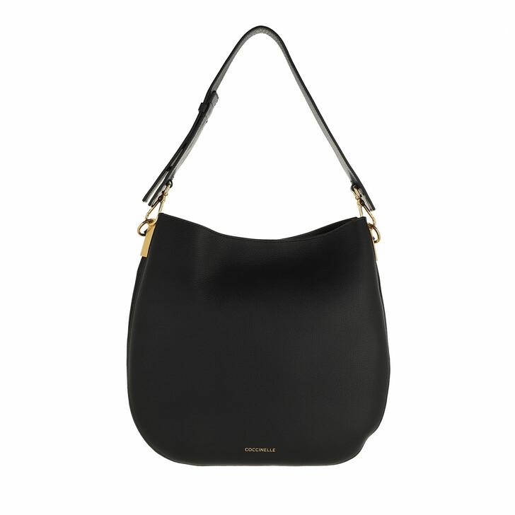 bags, Coccinelle, Arpege Handbag Double Grainy Leather / Noir/Carame Noir/Caramel