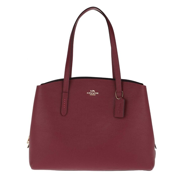 Reisetasche, Coach, Pebble Leather Charlie 40 Carryall Bag Deep Red