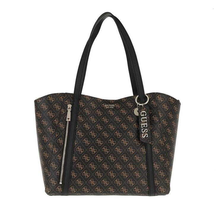 bags, Guess, Naya Trap Tote Brown/Black