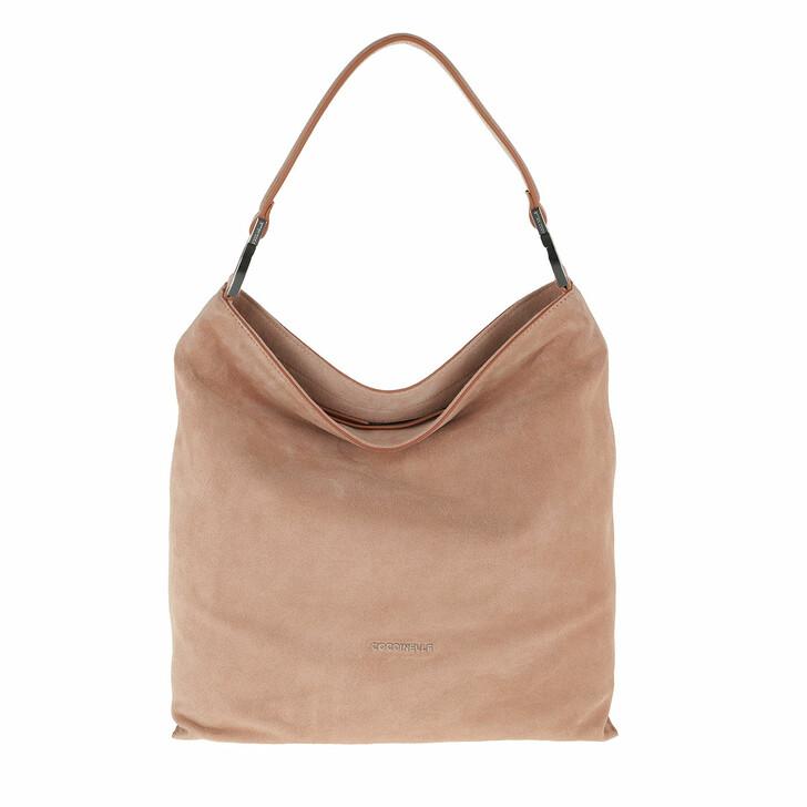 Handtasche, Coccinelle, Keyla Suede Handle Bag New Pivoine