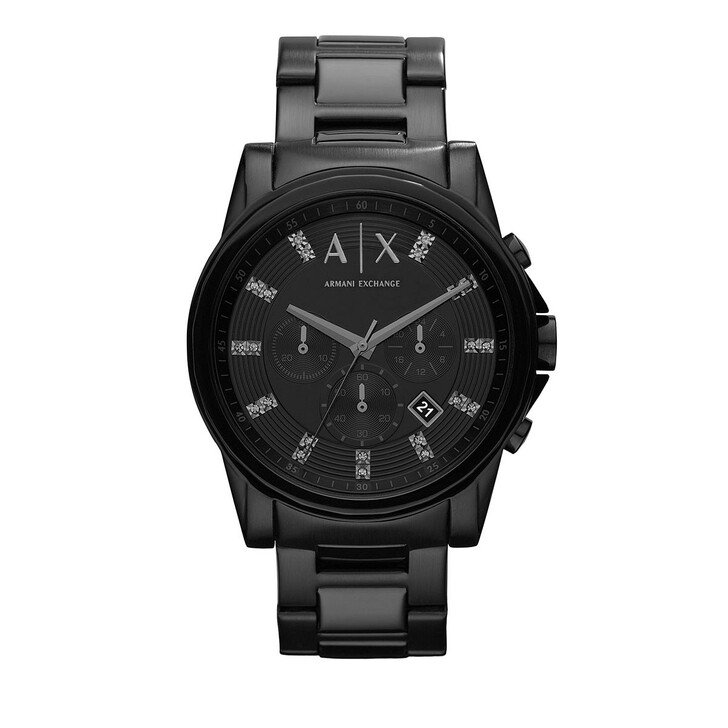 Uhr, Armani Exchange, Chronograph Stainless Steel Watch Black