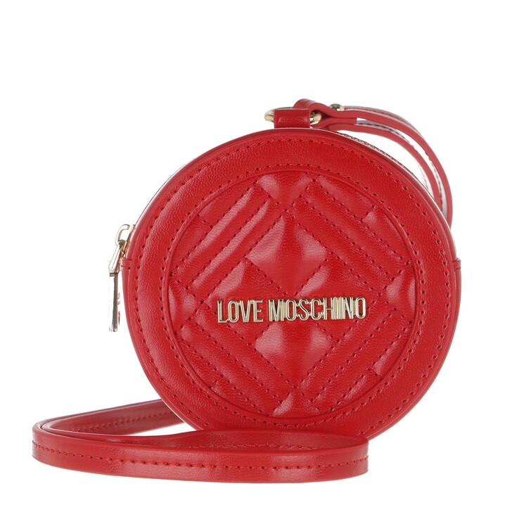 bags, Love Moschino, Pochette Quilted Nappa   Rosso