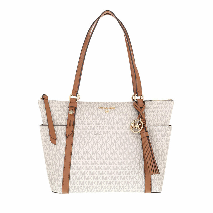 bags, MICHAEL Michael Kors, Medium Tz Tote Vanilla/Acorn