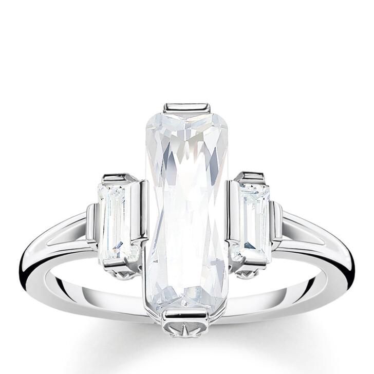 rings, Thomas Sabo, Ring White Stones Silver White
