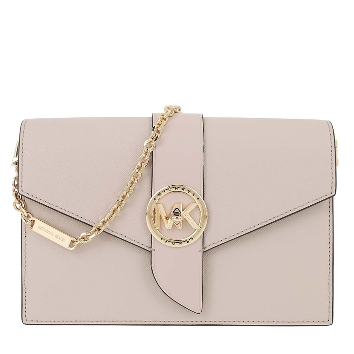 Handtasche, MICHAEL Michael Kors, Charm MD Wallet On Chain Crossbody Bag Light Sand