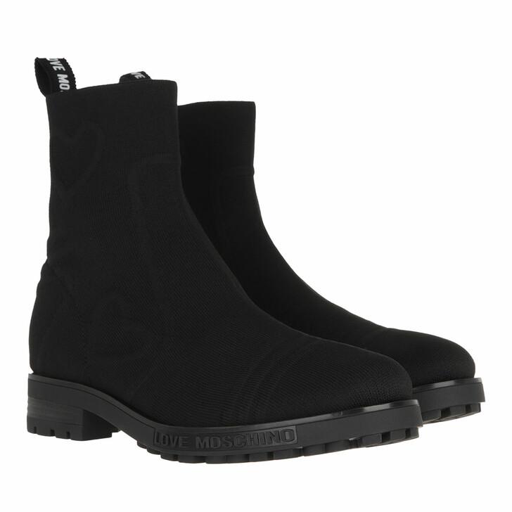shoes, Love Moschino, Sca Nod Gommac40 Calza Molove  Nero
