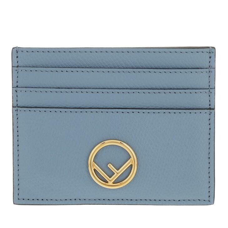 wallets, Fendi, Flat Card Holder Blue