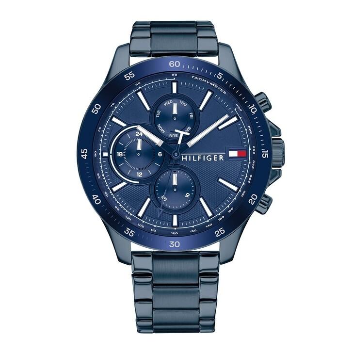 Uhr, Tommy Hilfiger, Men Multifunctional Watch Bank Blue