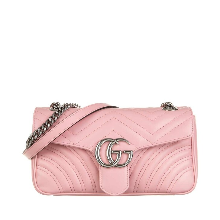 Handtasche, Gucci, GG Marmont Small Shoulder Bag Leather Wild Rose