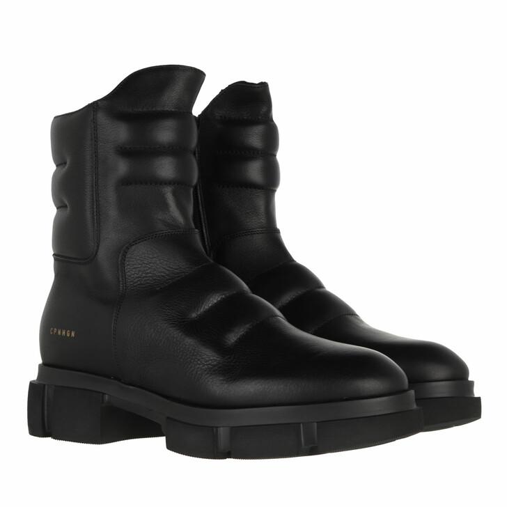 shoes, Copenhagen, CPH546 Biker Boot Calf Leather Black