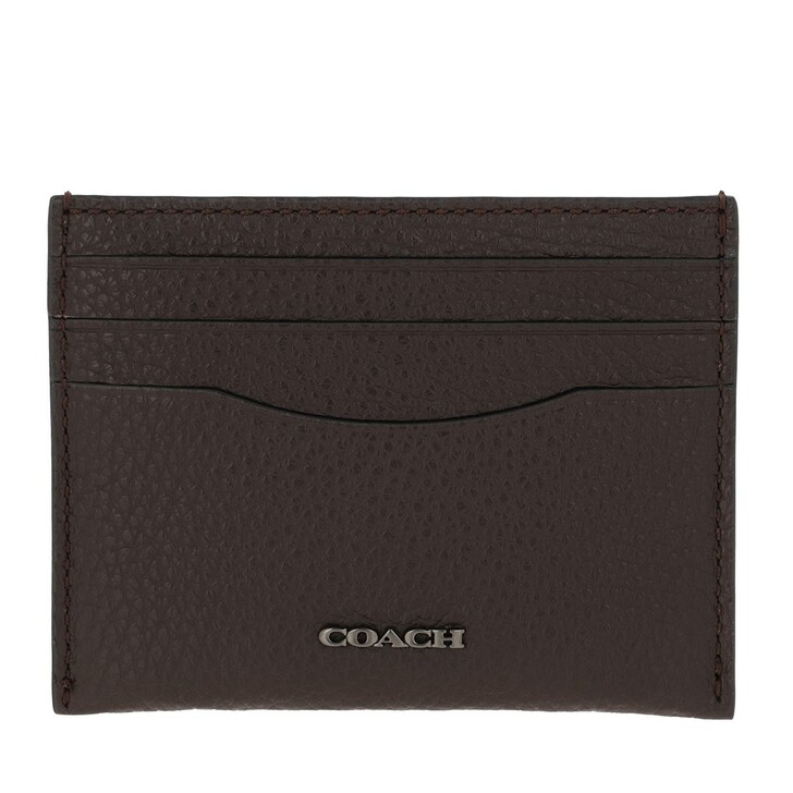 Geldbörse, Coach, Men Card Case In Pebble Leather Oak