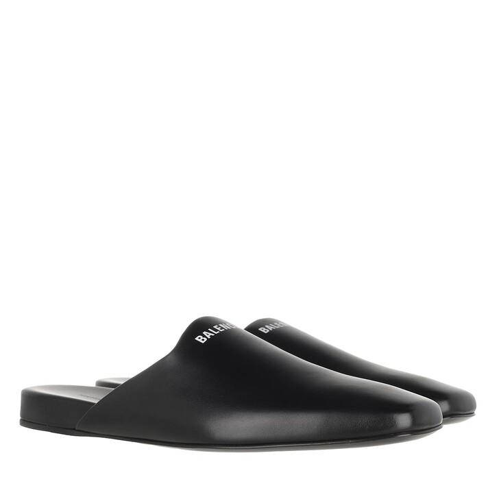 Schuh, Balenciaga, Slide Mule Black White