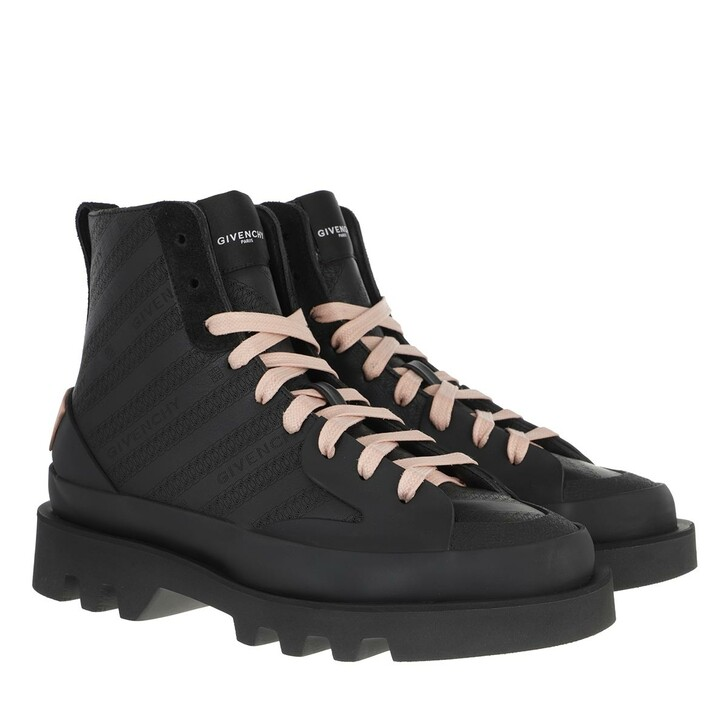 Schuh, Givenchy, Chain Clapham Mid Sneakers Sneakers Black Pink