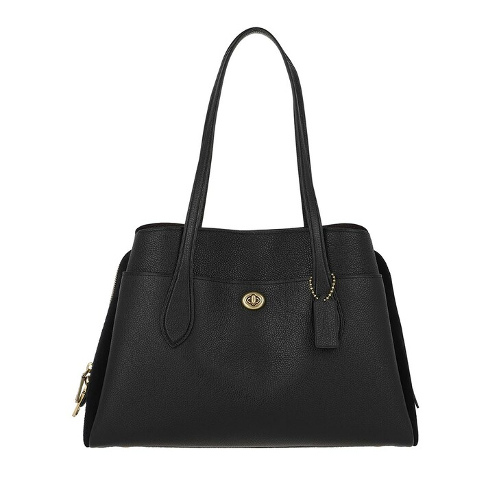 Reisetasche, Coach, Mixed Leather Lora Carryall Black