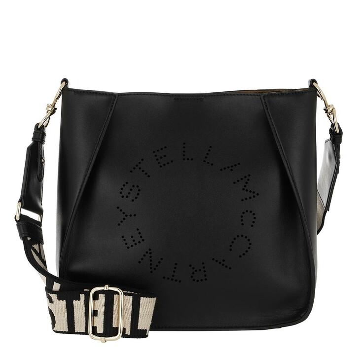 bags, Stella McCartney, Logo Shoulder Bag Black