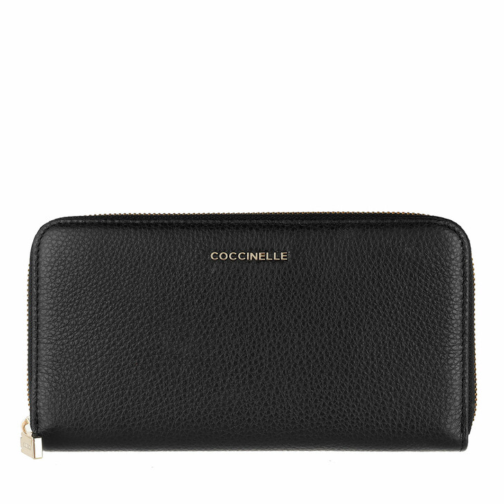 Geldbörse, Coccinelle, Wallet Grainy Leather Noir