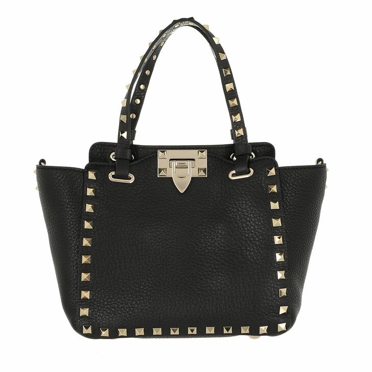 bags, Valentino Garavani, Rockstud Small Tote Leather Black