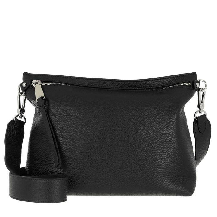 bags, Abro, Crossbody Bag LINNA  Black/Nickel