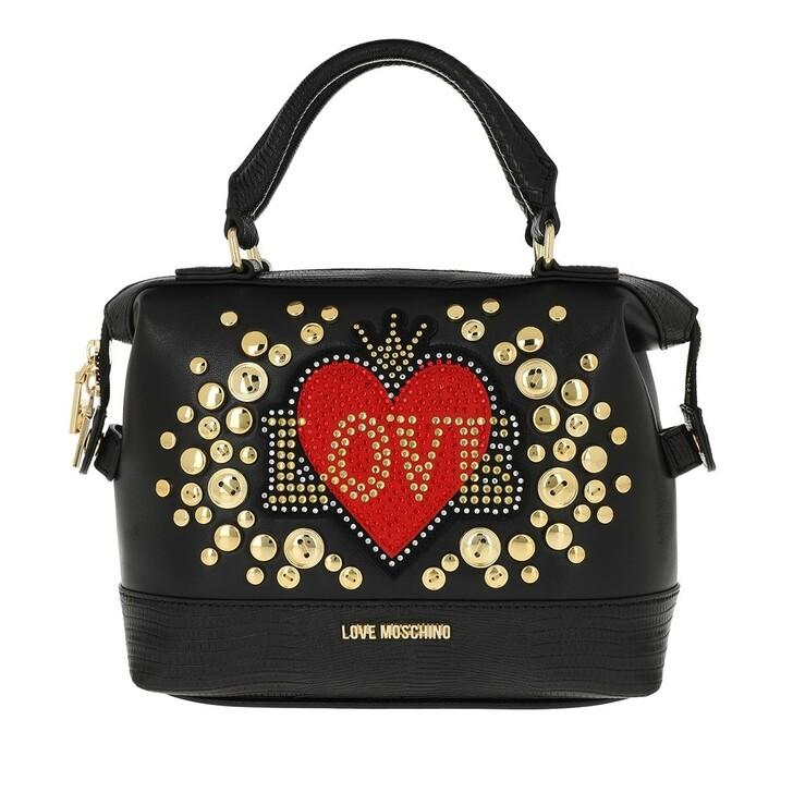 Handtasche, Love Moschino, Love Handbag Leather Black