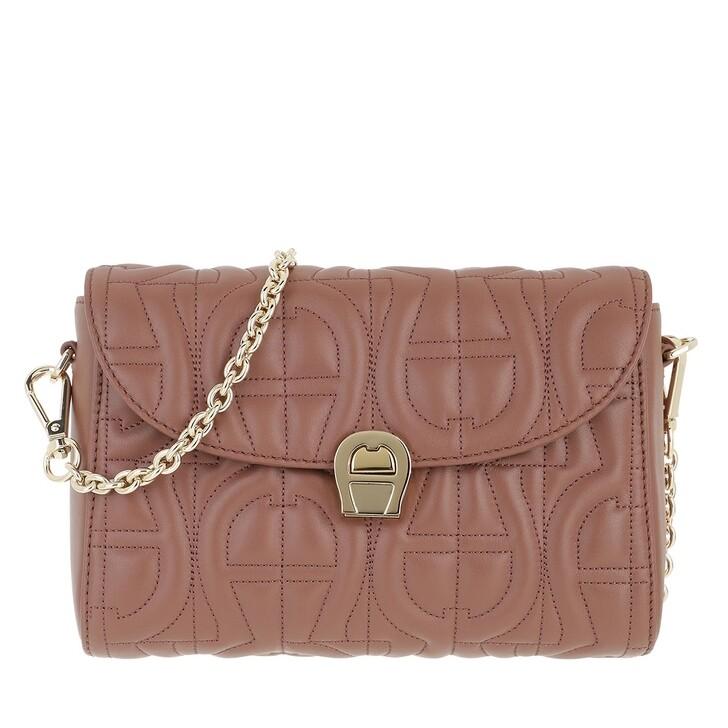 Handtasche, AIGNER, Handle Bag Walnut Brown