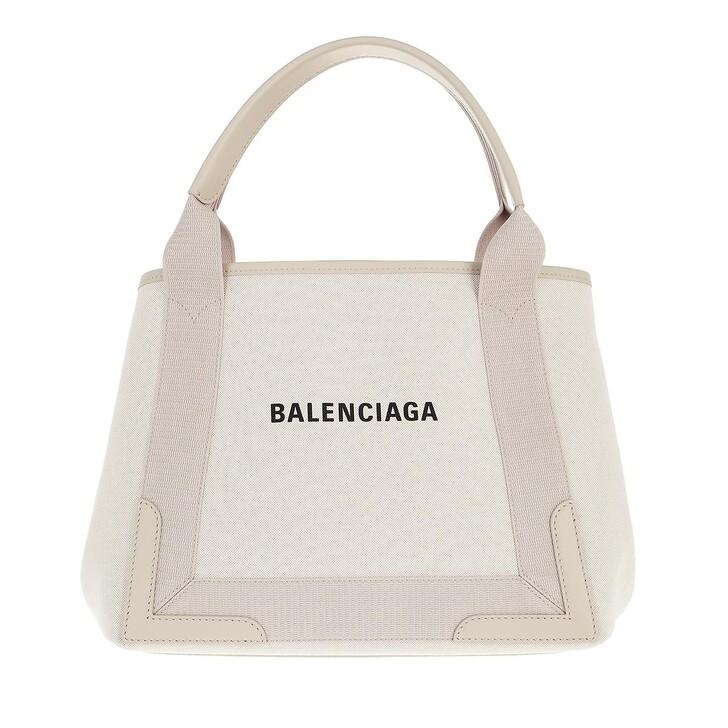 bags, Balenciaga, Navy Cabas S Tote Cold  Beige