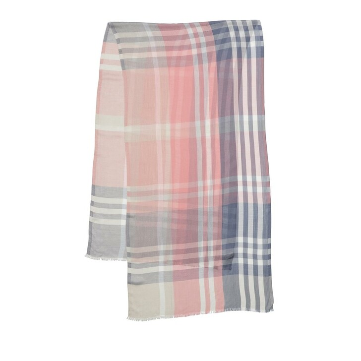 Schal, Barbour, Tynemth Check Wrap Pink Black