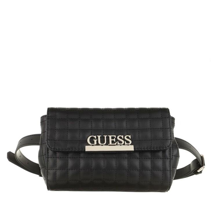 Handtasche, Guess, Matrix Convirtable Belt Bag Black