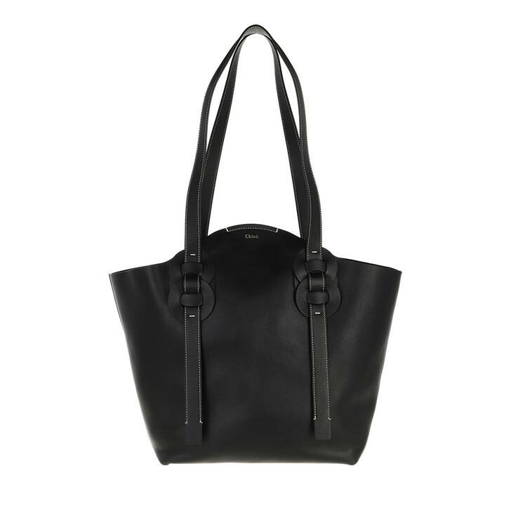 bags, Chloé, Medium Darryl Shopper Calfskin Black