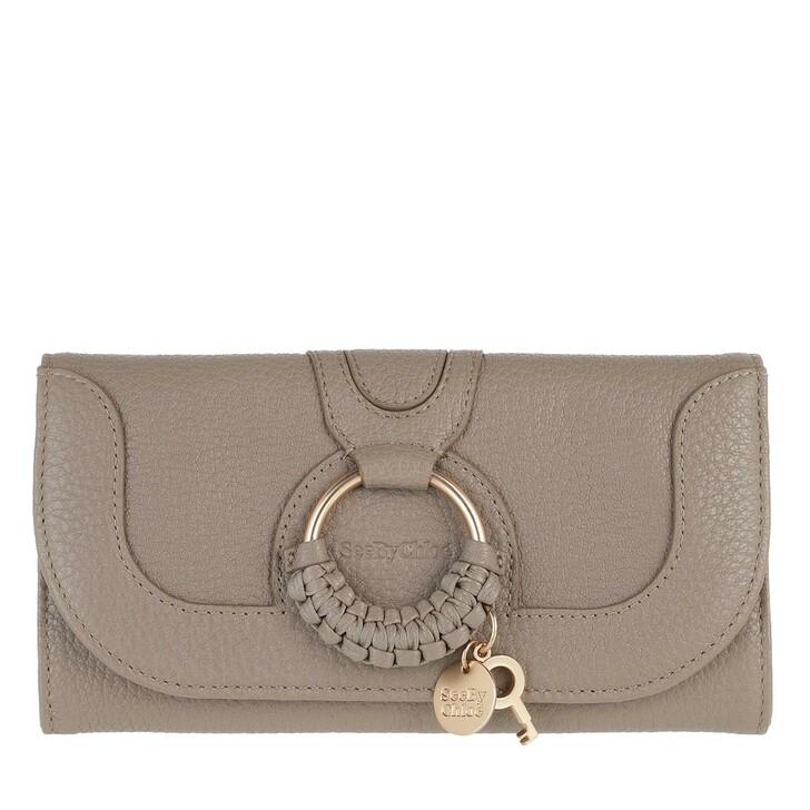 wallets, See By Chloé, Hana Wallet Large Motty Grey