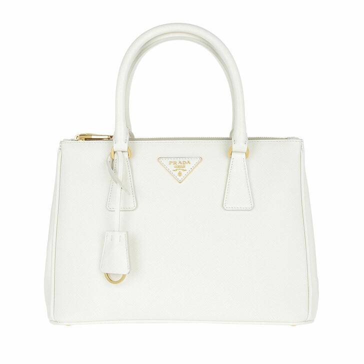 Handtasche, Prada, Borsa A Mano Saffiano Lux Tote Bianco