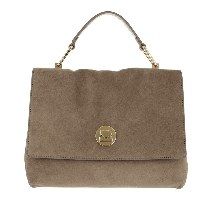 Handtasche, Coccinelle, Liya Crossbody Leather New Taupe