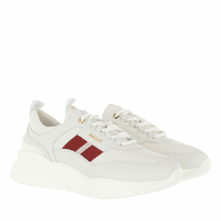 shoes, Bally, Sneaker Biara White