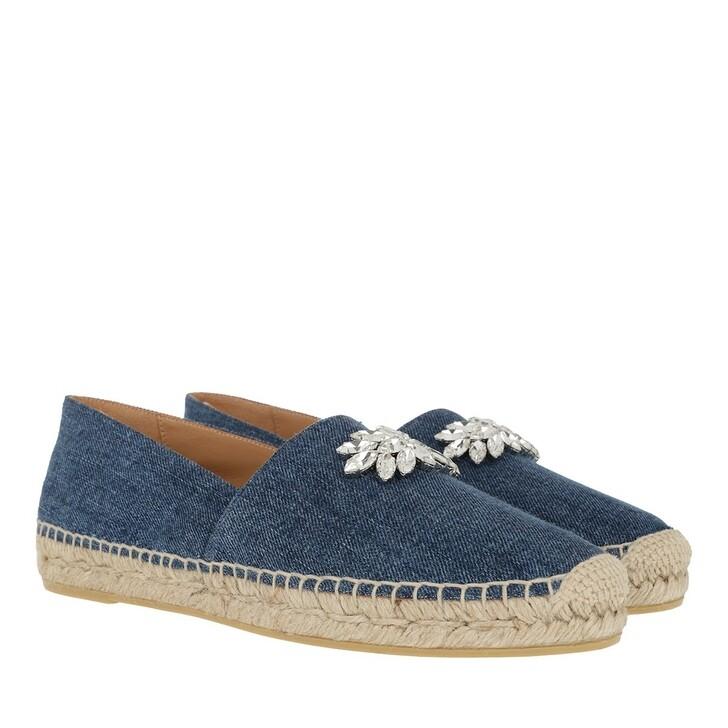 Schuh, Miu Miu, Crystal Flat Espadrilles Blue