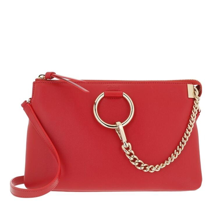 bags, Chloé, Faye Soft Zipped Shoulder Bag Red Crush