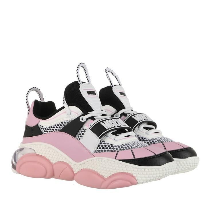 Schuh, Moschino, Sneaker Bolla 30  Mix  Bianco Nero Rosa