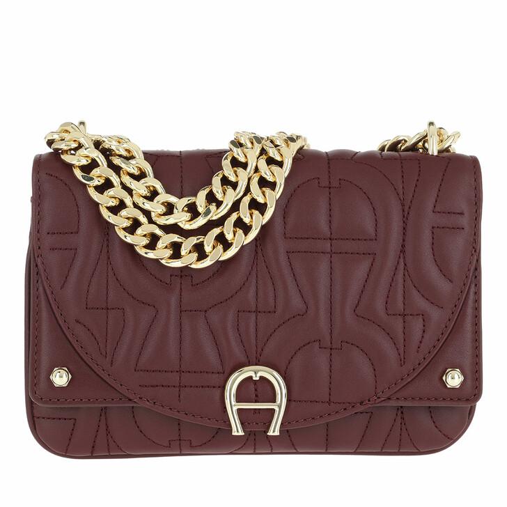 bags, AIGNER, Diadora Crossbody Bag Burgundy