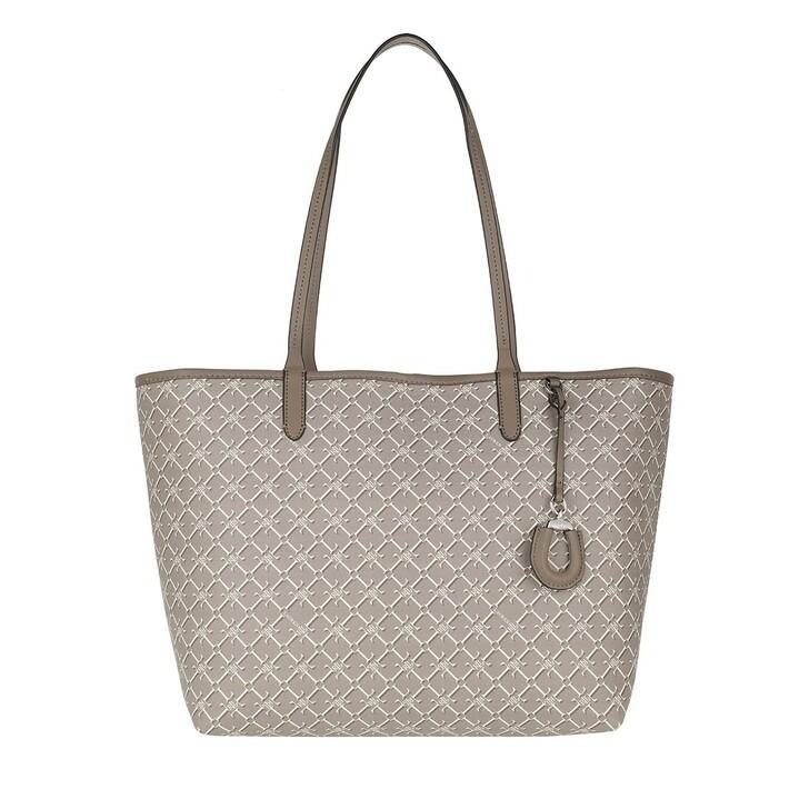 Handtasche, Lauren Ralph Lauren, Collins Medium Tote Bag Taupe Heritage Logo