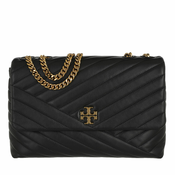 Handtasche, Tory Burch, Kira Chevron Convertible Shoulder Bag Black