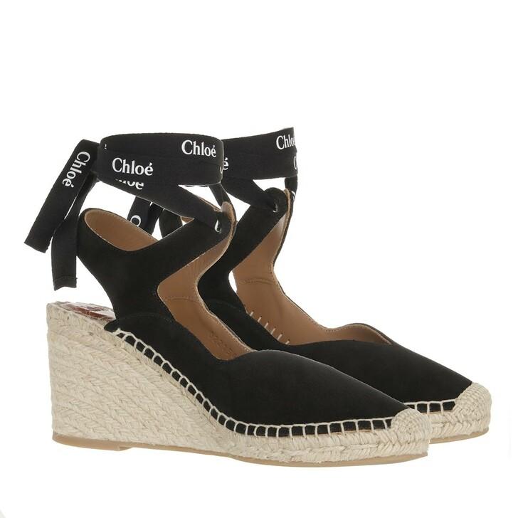 shoes, Chloé, Lauren Platform Espadrilles Black