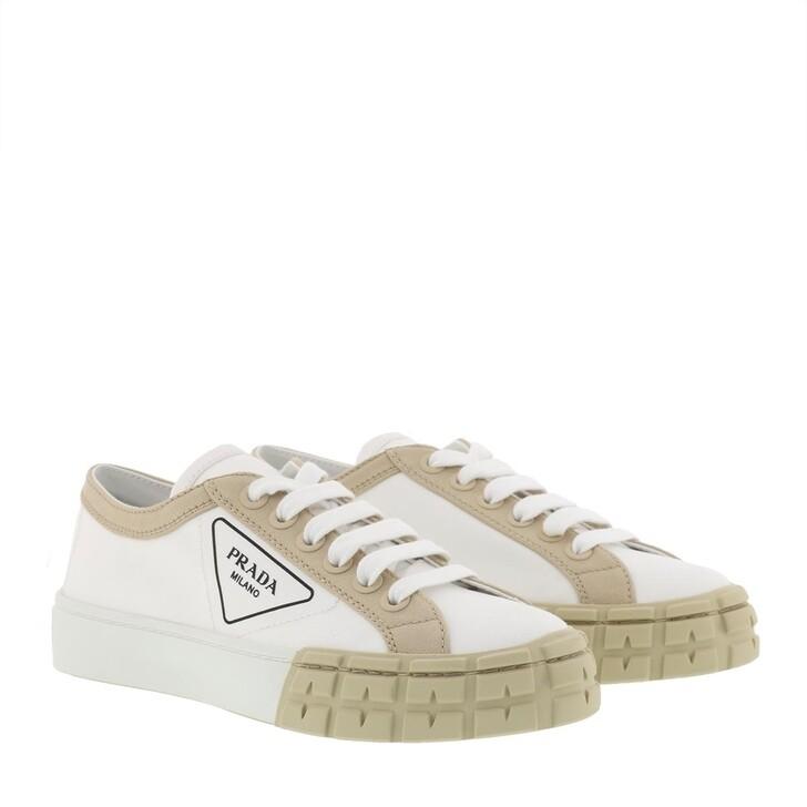 shoes, Prada, Gabardine Sneakers White/Cord