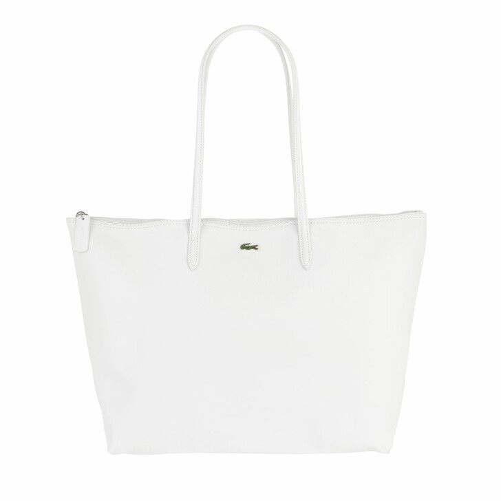 Handtasche, Lacoste, Concept L Shopping Bag Blanc