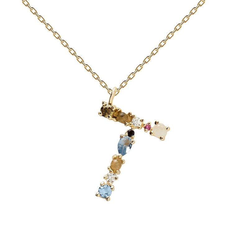 necklaces, PDPAOLA, T Necklace Yellow Gold