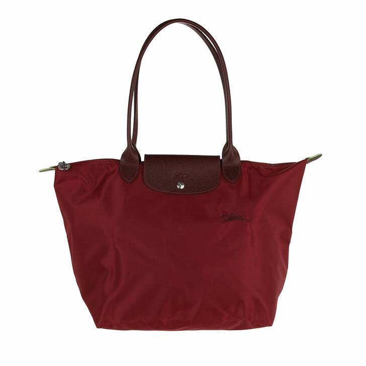 bags, Longchamp, Le Pliage Green Shoulder Bag Red
