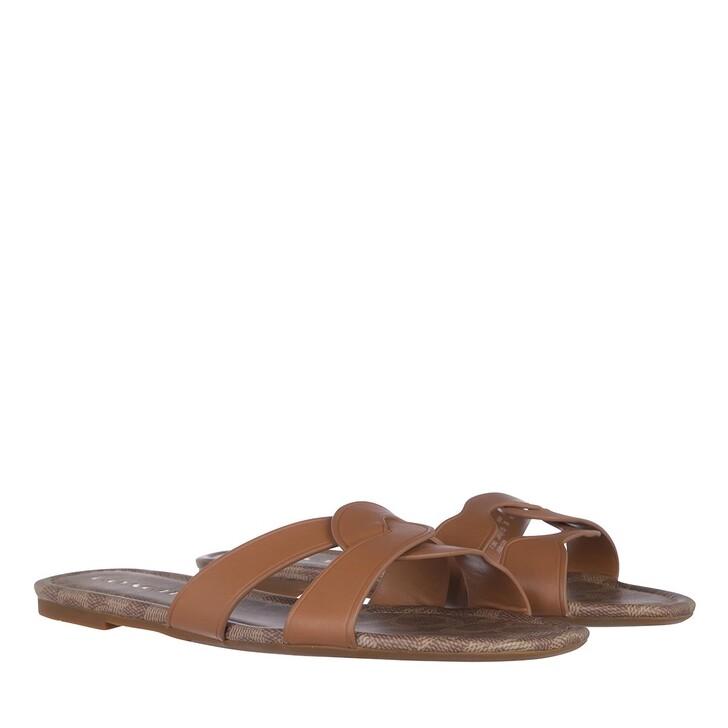 Schuh, Coach, Essie Leather Sandal Natural
